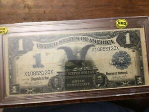1899 US SILVER CERTIFICATE PAPER MONEY - ONE DOLLAR LARGE SIZE BANKNOTE! Wow