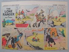 Lone Ranger Sunday Page by Fran Striker and Charles Flanders from 3/7/1943