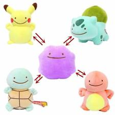 Pokemon Pikachu Bulbasaur Ditto Metamon Inside-Out Cushion Plush Figure 10'' 1pc