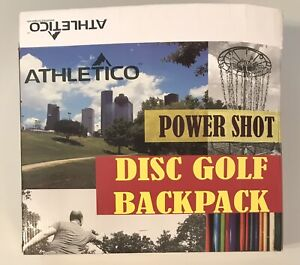 Black Athletico Power Shot Disc Golf Backpack Holds 20+ Discs