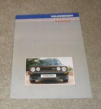 Volkswagen VW Golf GTI Mk1 & Mk2 RGA Styling Brochure 1985