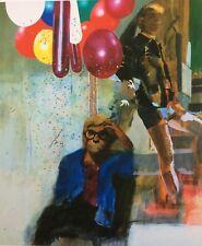 PETER BLAKE - David Hockney in a Hollywood Spanish interior - Large giclee