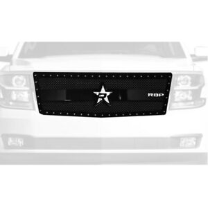 RBP 951053 RX-3 Series Studded Frame Grille-Black 1pc For 15-18 Chevy Tahoe NEW