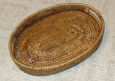 "Rattan Small Oval Tray 10 x 8 x 1.75"""