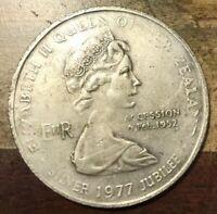 1977 New Zealand Silver Crown 1 Dollar Elizabeth II Coin