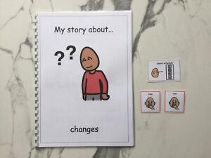 PECS/Boardmaker Transition/Change Social Story for Autism/ASD/SEN/ADHD/Aspergers