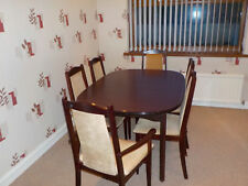 1960s G-Plan style extendable dining table & Six Chairs