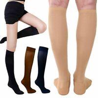 (3 Pairs) Copper-Compression Socks 30-40mmHg Graduated Support Mens Womens S-XXL
