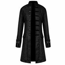 H&ZY Men Steampunk Vintage Jacket Halloween Costume Retro Gothic Victorian Fr...