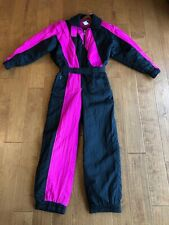 Vtg Tyrolia By Head Womens One Piece Ski Snow Suit Snowboarding Black /PinK L