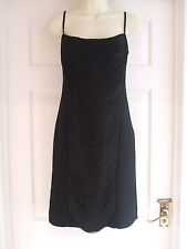 w Womens Size 12 Black Tassel Dress SUMMER PARTY Ladies Smart EVENING FORMAL