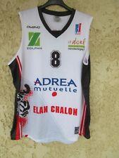 Maillot basket ELAN CHALON n°8 blanc OWAYO shirt LNB L