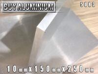10mm Aluminium Plates / Sheets 150mm x 250mm - 5083