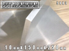 10mm Aluminium Plates / Sheets 150mm x 250mm - 5083