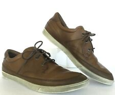 Ecco Sneakers Mens 10 M 44 EU Brown Leather Lightweight Casual Shoes B7