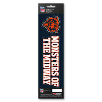 Official Licensed - NFL Chicago Bears Vinyl Slogan Decal Pack Made in USA