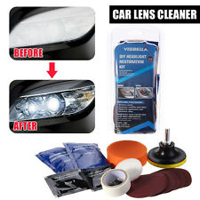Visbella Car Vehicle Motorcycle Headlight Lamp Lens Cleaning Restoration Set Kit