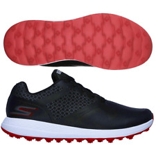 SKECHERS GO GOLF COMFORT MAX Dri-Lex® GOLF SHOES / BLACK - RED  / ALL SIZES