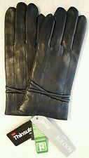 NWT Igloos Women's S/M Leather TEXTING Gloves BLACK Touchscreen DRIVING  #257816