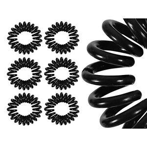 10x Haargummis Spiralhaargummi Spiralgummi Telefonkabel Zopfgummi Schwarz Zopf