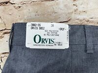 Orvis Men's 38x34 Luxury Chinos Charcoal NWT $119 Made in USA New old stock.