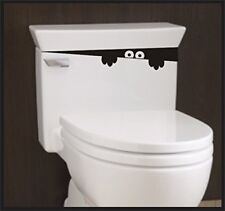 Toilet Monster Bathroom decal potty training sticker for children funny kids