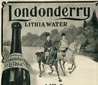 1903 LONDONDERRY N Hampshire Horseback Quack Spring Water ORIGINAL Print Ad 4750
