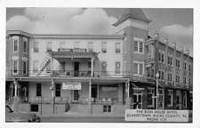 Quakertown Pennsylvania Bush House Hotel Street View Antique Postcard K59605