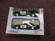 WELLY Police Highway Patrol Vehicles Ford 1999 Crown Victoria & Chevy Suburban 1