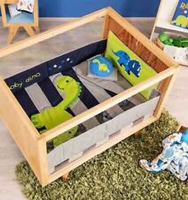 Dinosaur Blue Crib Bedding Set Sheet 6Pc Comforter Baby Shower Boy Special Gift