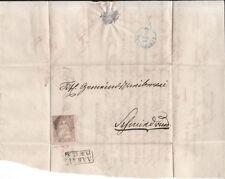 1854 Strubel ZNr. 22B (Mi 13IIAym) auf Brief Attest Berra Kat. SBK Fr. 400.–
