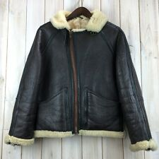 Vintage Cirrus B3 Sheepskin Flying Flight Aviator Jacket RAF Irvin Style S