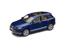 Original VW Modèle de voiture 1:43, Touareg, Reef bleu métallisé