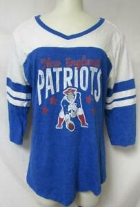 New England Patriots Womens Size Large 3/4 Length Sleeve T-Shirt A1 2960