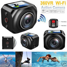 VR360 Waterproof 4K WiFi Mini Helmet Cam Sport DV Action Camera + Remote Control