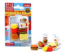 IWAKO Puzzle Eraser / Fast Food Assortment Blister Set (Japan Import)