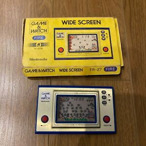 BOXED 1983 Nintendo Game & Watch Widescreen FIRE Argentinian rare variant ARGIE