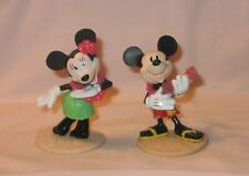 Disney Hawaii Aloha Dancer Mickey And Minnie Pvc Figures; By DecoPac