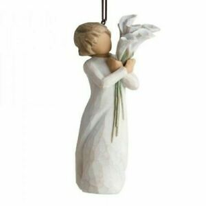 Willow Tree Beautiful Wishes Ornament Flowers Hang or Stand Gift Christmas 27470