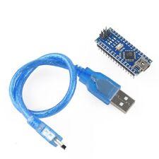 Compatible Arduino Nano(CH340G)-ATmega328 USB Mini Micro-controller Board Gift