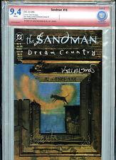 Sandman #18 1989 Gaiman CBCS VSP Graded 9.4 NM Double Signed Red Label DC B