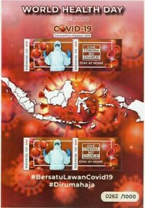 INDONESIA PANDEMIC GLOBAL 2020 MS WORLD HEALTH DAY FIGHT THE VIRUS STAMPS MNH