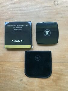 Chanel Compact Mirror Duo - Great Condition - Orignal Case And Pouch