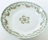 """Haviland & Co Limoges France Antique Dessert Berry Bowl 7.75"""" Scallop Pink Roses"""