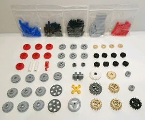 LEGO Technic - Pins Connectors Gears Cogs Wheels Clutch Pulley - 155 Parts - NEW