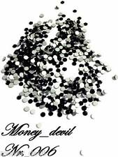 Schwarze Glassteine mit High Shine Effekt 40 Stück Kristalle für Nageldesign