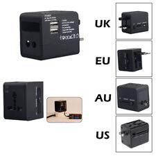 Universal Power Adapter Electric Converter US/AU//EU World USB Travel Plug  UK