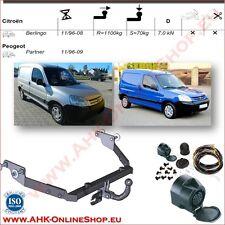 Gancio di traino fisso Peugeot Partner 1996-2009 + kit elettrico 13-poli