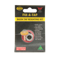 Fix-A-Tap Basin Tap Reseating Kit Suits 13mm Taps Repair Damaged Seats 222329