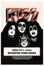 Hi Heel Rock: Kiss at Rochester Dome Concert Poster 1975 13x19